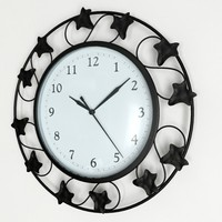 wall clock scale - 3d max