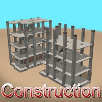 3d model arab construction01 construction