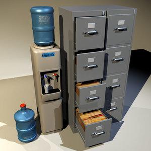 cooler file cabinet 01 3d model