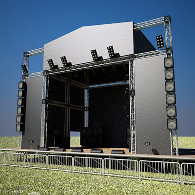 3d model music stage