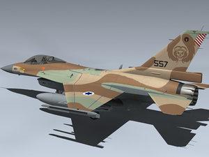 3d model f-16c israeli barak