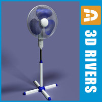 3d fan electronic shop model