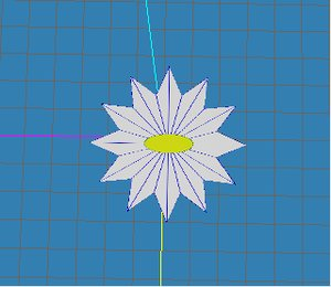 free flower symbol 3d model