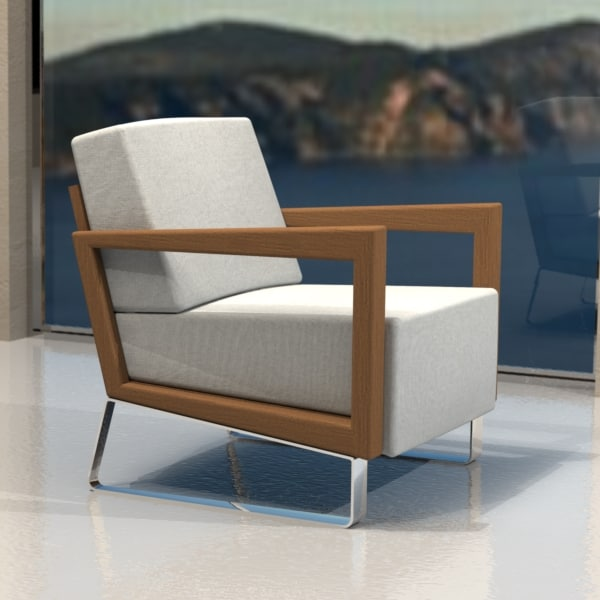3ds max lounge chair