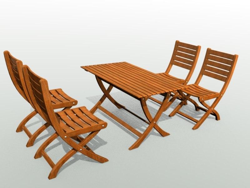 3d model garden furniture