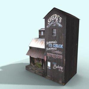 3d model old bakery