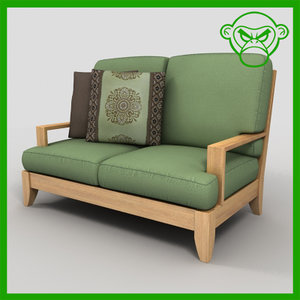 3d love seat model