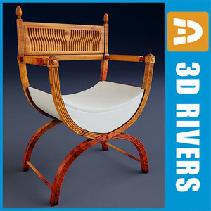 mahogany armchair 3d 3ds