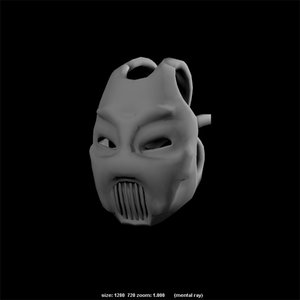 3d model death mask