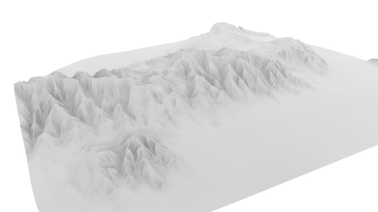 3d model mountain range