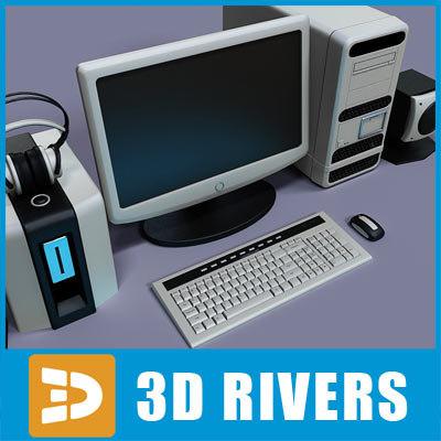 pc set 3d model