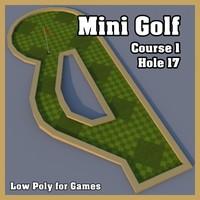 3dsmax mini golf hole
