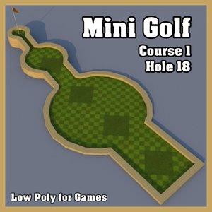 mini golf hole 3d dxf