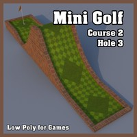 Low Poly Mini Golf Hole C2H3