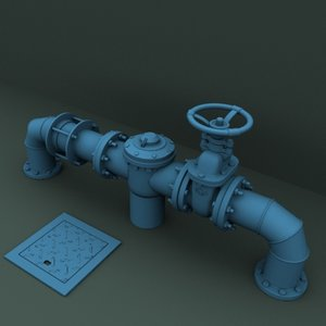 3d section pipe