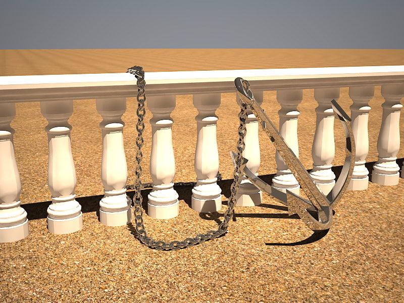 3d anchor chain balustrade