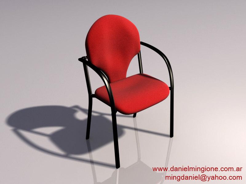 3d modern office chair