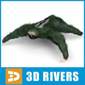 sloth animals mammals 3d model
