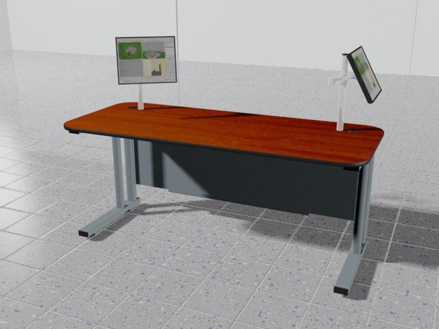 person monitor 3d model
