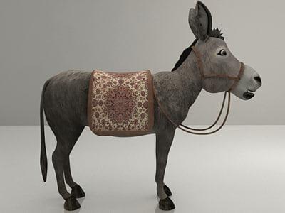 3d studio donkey model