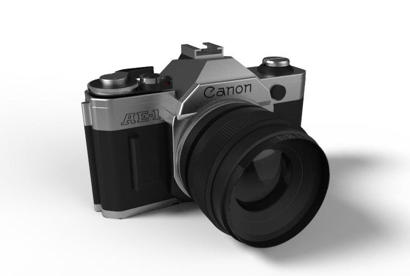3d canon ae-1 film camera