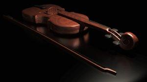 3d model violin stradivarius
