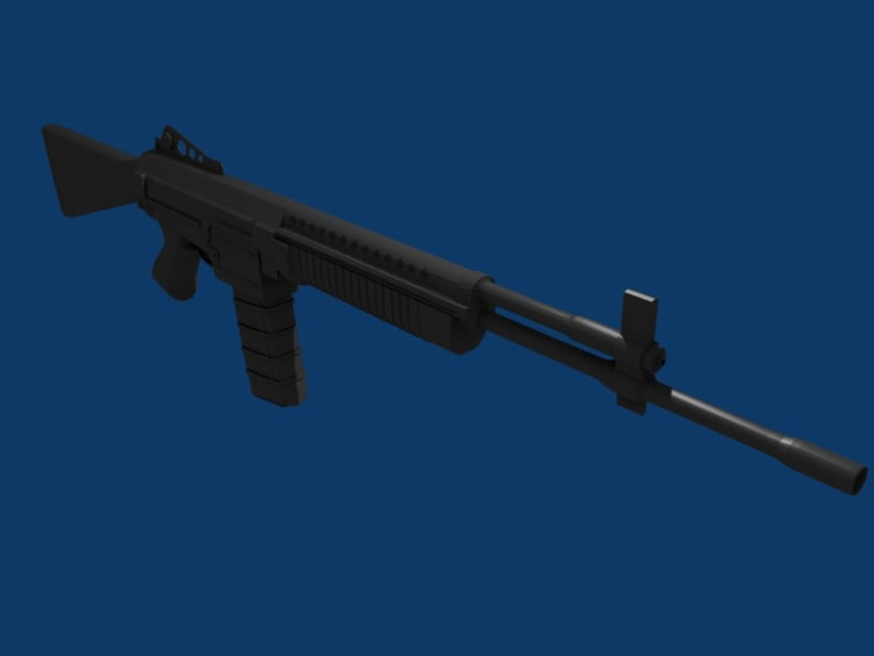 m96 rifle 3d obj