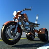 custom three wheel motocycle