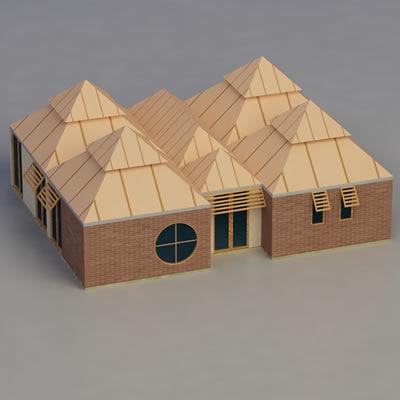 multi purpose building 3d max