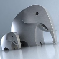 Stainless Steel Elephant Model