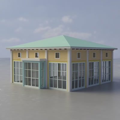 multi purpose building 3d model