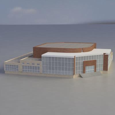 multi purpose building 3d 3ds