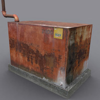 storage tank corroded 3d model