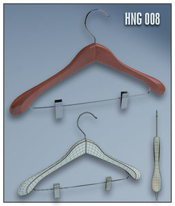 3ds max clothes hanger