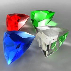 3d model arrow cut gem