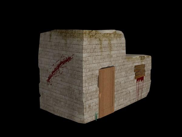 3d model broken house