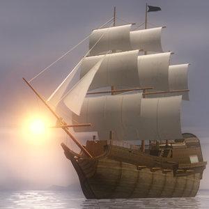 3d pirates ship