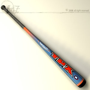 3d model baseball bat 7
