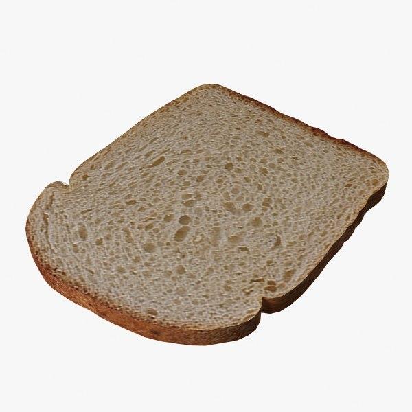 3d model bread slice