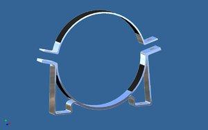 cylinder clamp bracket 3d model