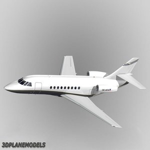 3d dassault falcon business jet model