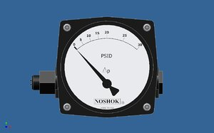 3ds max differential pressure gauge