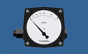 3ds max differential pressure gauge