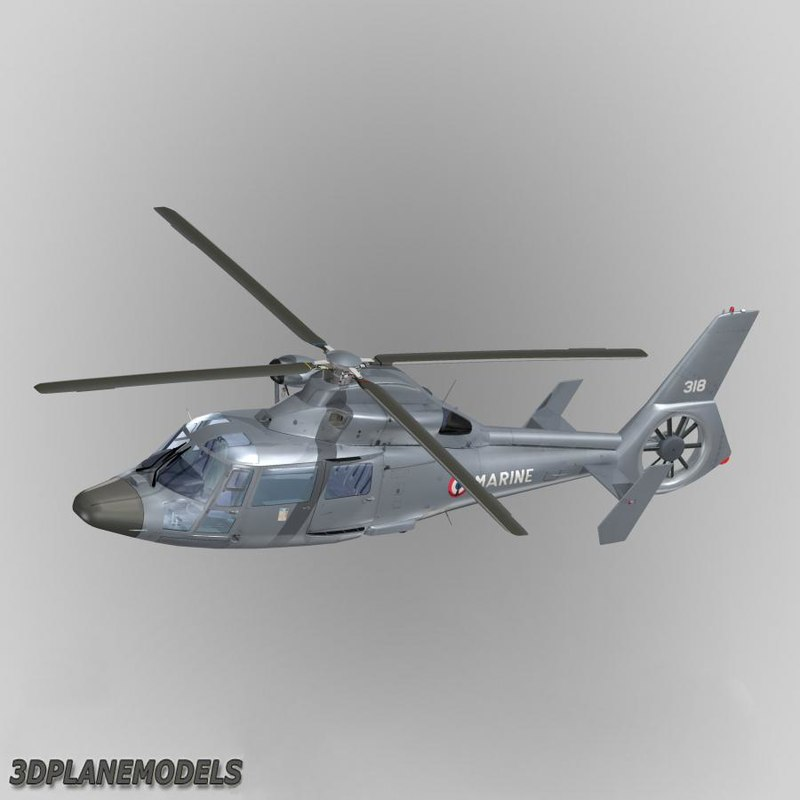 3d model eurocopter dauphin ii france
