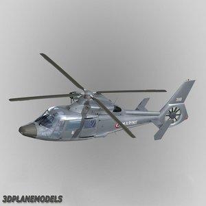 3d model eurocopter dauphin ii france