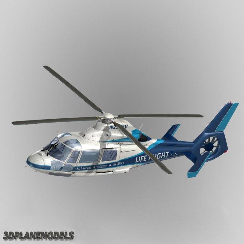 3dsmax eurocopter dauphin ii life