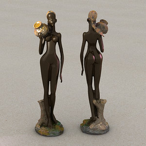 3ds african statue