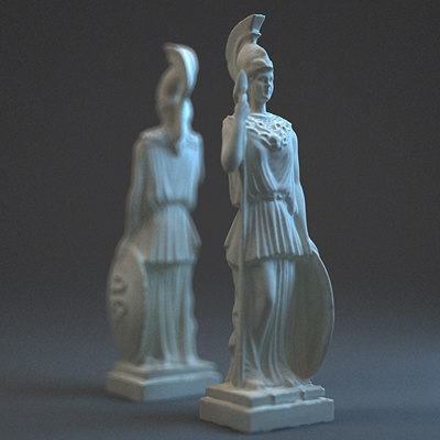 athena statue 3ds