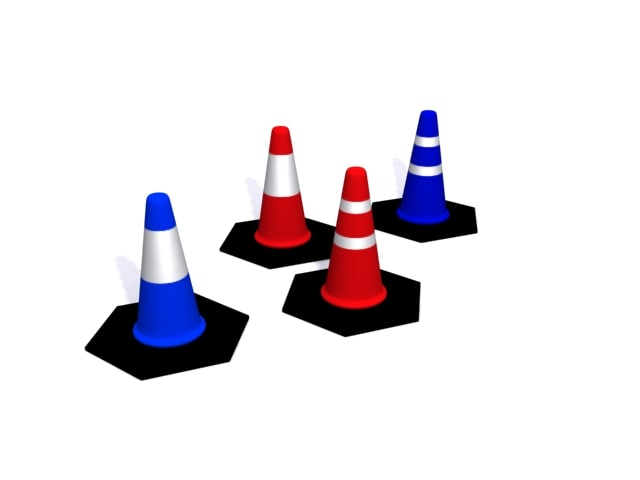 cones construction 3d max