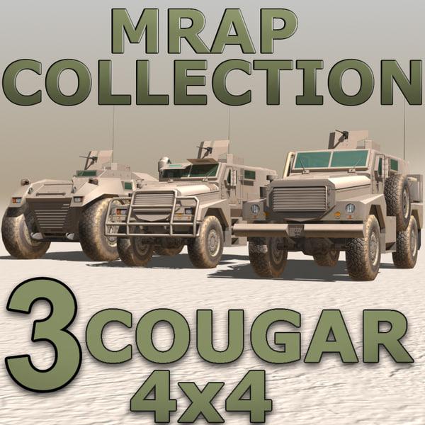 resistant cougar iraq 3d model